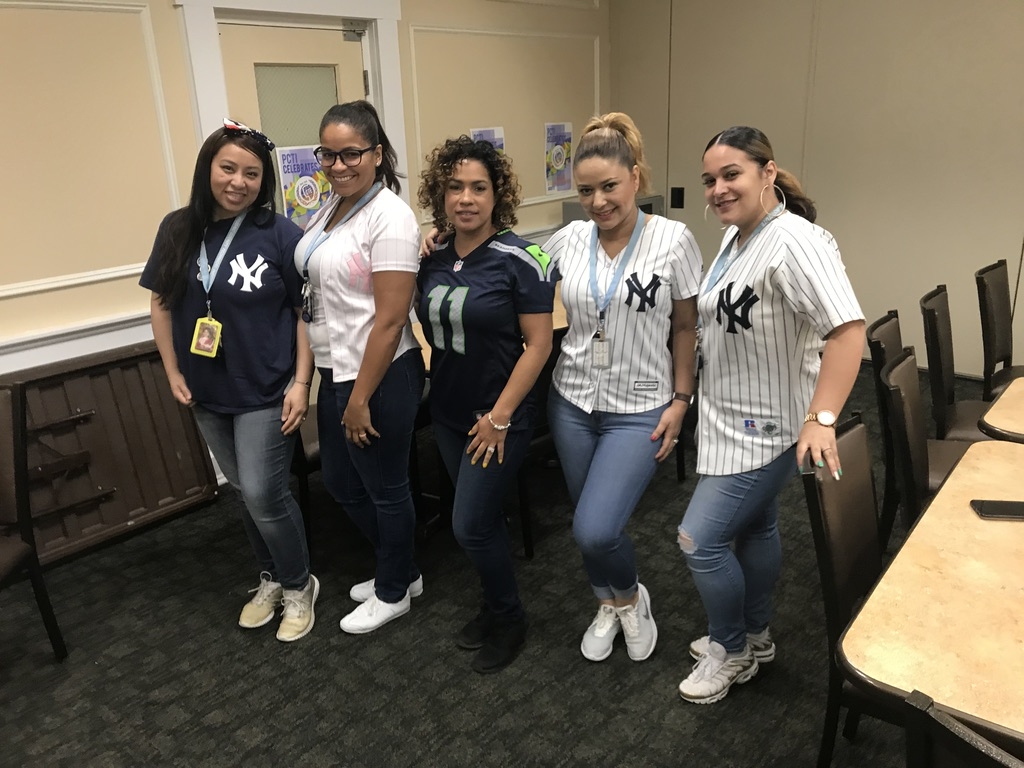 Fatima Ramirez, Julissa Rodriguez, _, Thais Vargas, Veronica Blanco, Sports Team Jersey, T-Shirt Day, 5-10-19