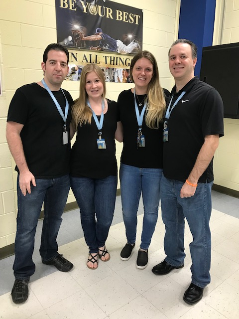 Pat, Stacie, Sarah Murray & Nick Baldino, quadruplets on Twin Day, PCTI, 5-7-19 (1)